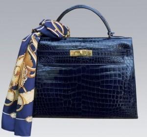Hermès-sac Kelly et son foulard
