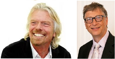 Richard Branson et Bill Gates